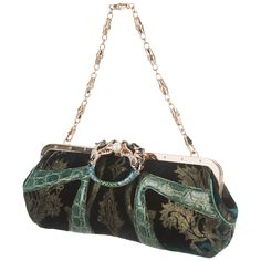 5d8759aef6d4 Exotic Gucci by Tom Ford 2004 Bamboo Velvet Dragon Encrusted Crystal Bag  Clutch Diy Handbag,