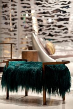 Love this teal fur banquet by Francis Sultana