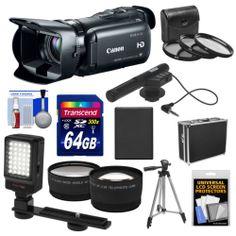 Canon VIXIA HF G20 32GB Flash Memory 1080p HD Digital Video Camera Camcorder Kit 013803206432   eBay