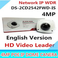 140.99$  Watch here - http://alichx.worldwells.pw/go.php?t=32552107484 - In stock DS-2CD2542FWD-IS 4MP Mini Dome CCTV Camera POE WDR H.264+, non wifi, P2P mini ip camera 140.99$
