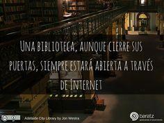 Una biblioteca, aunque cierre sus puertas, siempre estará abierta a través de Internet