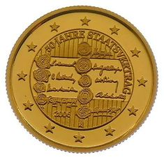 """Liberia 2006 solid .999 Gold Coin """"State contract"""" Austria PP"""