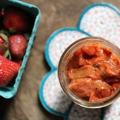 Rhubarb Strawberry Indian Pickle - spicy, sweet, and sour condiment that will give any dish a kick!