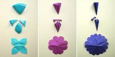 como hacer flores de papel crepe para primavera - Buscar con Google