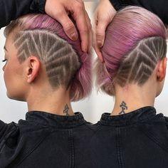 Dope design I did on Elise's undercut  @hairbyelm @elisemelnick  @efoxxhair @nothingbutpixies  #efoxxhair #undercut #pinkhair #hairbrained #modernsalon #pastelhair #pravana