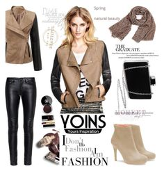"""""""Yoins jacket"""" by irinavsl ❤ liked on Polyvore featuring Yves Saint Laurent, Chanel and yoins"""