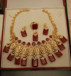 Imelda Marcos' Ruby and Gold Demi-Parure