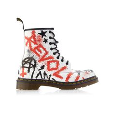 Shop MO Exclusive: Dr Martens Graffitid by Klughaus by Dr. Martens Now Available on Moda Operandi Dr. Martens, Doc Martens Stiefel, Botas Dr Martens, Doc Martens Boots, Leather Lace Up Boots, Leather Booties, Real Leather, Lace Booties, Ankle Booties