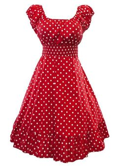Retro 1950s Polka Dot Smock Swing Plus Size Fashion Dress at Amazon Women's Clothing store: