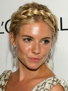 This cute hairstyle is really easy to do yourself! Watch the video tutorial to see how to do your own milkmaid braid.....