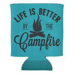 Shop Life is Better by the Campfire Can Cooler created by iviarigold. Circuit Projects, Vinyl Projects, Art Projects, Diy Cans, Cricut Creations, Silhouette Projects, Silhouette Cameo, Cricut Design, Life Is Good