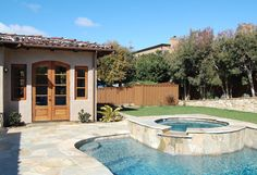 Great patio and pool in this backyard.