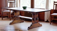stickley furniture | Stickley Trestle Dining Table | Caledonia Studio Arts ...