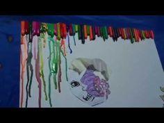 Cheshire Cat ,Moon,Dragon Oh My Crayon Art