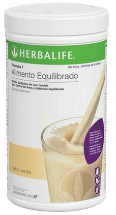 #Formula1 SIN Batido #Herbalife Vainilla.  SIN #gluten SIN #lactosa SIN #soja