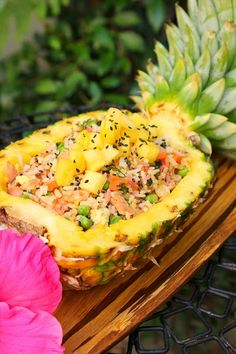 Pineapple fried rice...looks interesting.
