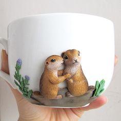 Декор чашек полимерной глиной. / Популярная медицина