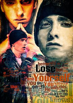 Print Eminem music poster portrait Christmas Gift art Lose Yourself poster Eminem illustration print canvas giclee on Etsy, $30.00
