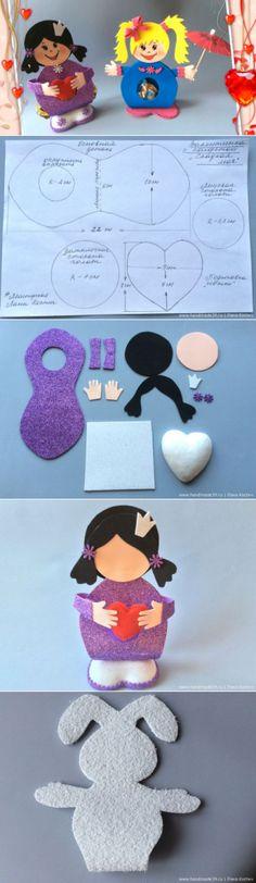 МК «Фоамиран: валентинки с конфеткой» | Арт | HandMade39.ru