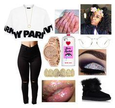 """""""Flexin on my old h***"""" by jadynbell ❤ liked on Polyvore featuring Topshop, Linda Farrow, Valfré, UGG, Jennifer Zeuner and Michael Kors"""