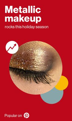 People are taking a shine to metallic and glittery makeup, from metallic lipstick (up to copper eyeshadow (up Metallic Makeup, Metallic Lipstick, My Beauty, Beauty Hacks, Beauty Tips, Copper Eyeshadow, Holiday Gifts, Holiday Ideas, Hazel Eyes