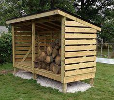 Firewood Storage Shed  http://gardenshedplansonline.com/