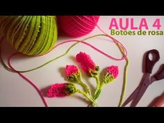 Бутон розы Rose bud Crochet - YouTube