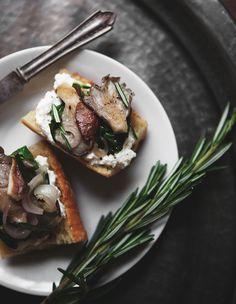 Winter Chard + Mushroom Bruschetta — a Better Happier St. Sebastian