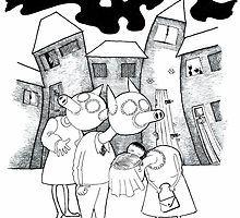 Dark Lane illustration by Sally Barnett