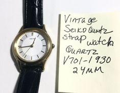 Vintage Seiko Ladys Quartz Strap Watch Running 7 Vintage Seiko Watches, Seiko Gold, Seiko Men, Waterproof Watch, Watch Necklace, Vintage Branding, Gold Watch, Jewelry Stores, Quartz Watches