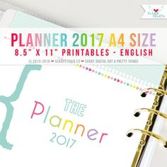 2017 Planner Spanish  Printables Pages A4 format  por ScrapStudioES