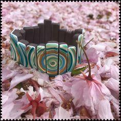 Polymer clay, swirls, mother's day, gift. Premo, Fimo, Cernit Stretch Bracelets, Cuff Bracelets, Swirls, Polymer Clay, Gifts, Jewelry, Fimo, Presents, Jewlery