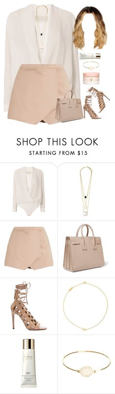 """16.07.17"" by jamilah-rochon ❤ liked on Polyvore featuring Michelle Mason, Yves Saint Laurent, Aquazzura, Clé de Peau Beauté and Marc by Marc Jacobs"