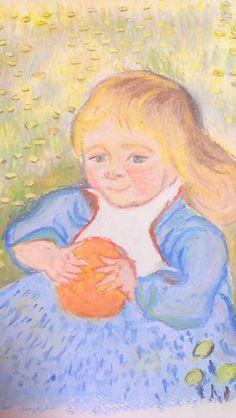 クレヨンによる模写。crayon, facsimile,Gogh