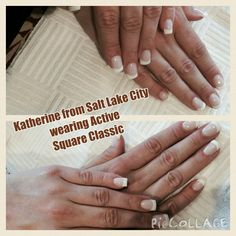 Katherine from Salt Lake City wearing Active Square Classic