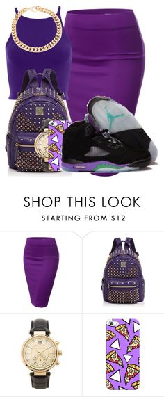 """""""Air Jordan 5 Collection"""" by trillest-boss ❤ liked on Polyvore featuring J.TOMSON, MCM, Michael Kors, Casetify, Alessandra Rich, women's clothing, women's fashion, women, female and woman"""