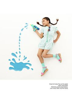 Striped playisuit - No Added Sugar - Via La Petite Magazine