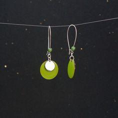 Boucles d'oreilles sequins vert