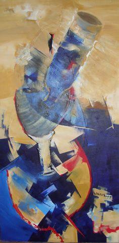 """""""Rogelio"""" - Paula Weiszkopf -  Acrílico - 94  x 45 cm. www.esencialismo.com"""
