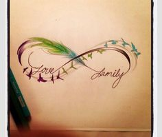 Infinaty family tattoo