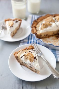 Chocolate Chip Cookie Dough Pie - Anyone need me to make this for anything?!?!