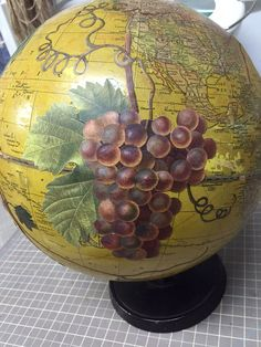 work in progress- wine globe