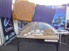 Pabellón Stands de Exhibición - Agencia espacial del Perú (mapa satelital).