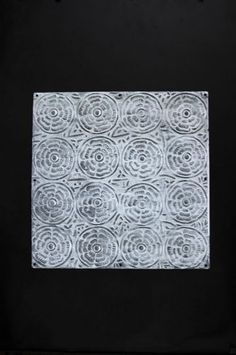 White Rose Tin Tile - 15cm x 15cm or 30cm x 30cm