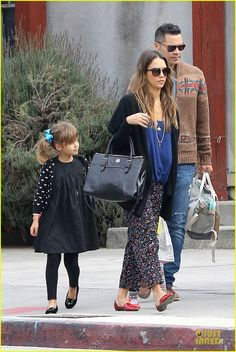 The adorable Honor Warren, daughter of Jessica Alba is wearing the Aurelia dress from Leopold & Livia