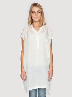 Johnny Was Clothing PG silk tunic Quinn Blouse in White