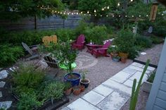 My Great Outdoors: Lee John's Natural Modern Patio  Celtic knot with bricks surrounded by pea gravel