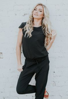 {Black Jumpsuit} on the lovely #lindsarnold | @albionfit