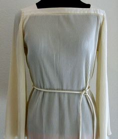Vintage 1950 Pleated Cream Tunic Blouse Mad by TimeGoneByVintage, $24.95