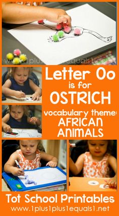 Tot School Printables Letter O is for Ostrich free from Carisa Letter O Activities, Preschool Letters, Preschool At Home, Learning Letters, Preschool Lessons, Preschool Ideas, School Week, Tot School, Toddler Learning